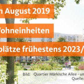 Baubeginn für Wohnquartier Märkische Allee/Wuhletalstraße/Trusetaler Straße